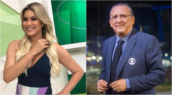 Renata Fan entrevistou Galvão Bueno no programa O Grande Círculo. (Foto: Montagem/Divulgação)