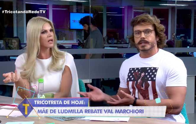 Apresentadores do Tricotando Val Marchiori e Franklin David (Reprodução/RedeTV)