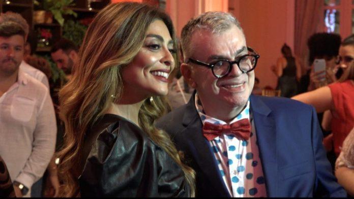 Autor da Globo Walcyr Carrasco e sua protagonista Juliana Paes de A Dona do Pedaço
