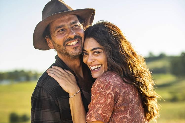 Marcos Palmeiras e Juliana Paes são os protagonistas de A Dona do Pedaço, nova novela das 21h da Globo (Foto: Divulgação)