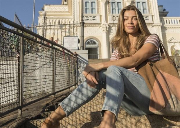 Paloma (Grazi Massafera) em cena da novela Bom Sucesso na Igreja da Penha, no Rio (Foto: Globo/Victor Pollak)