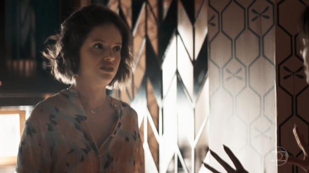Josiane (Agatha Moreira) se dará mal após mentir sobre assassinato de Jardel em A Dona do Pedaço (Foto: Reprodução/Globo)