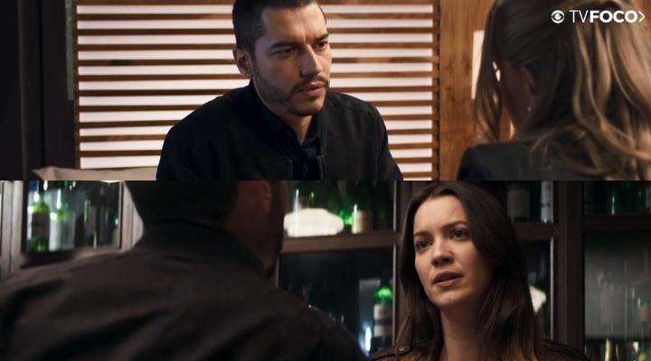 Camilo e Fabiana em A Dona do Pedaço da Globo
