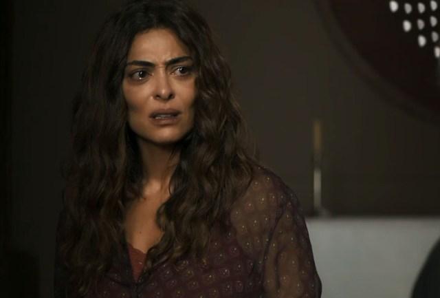 Maria da Paz (Juliana Paes) vai dar flagra nos próximos capítulos da novela A Dona do Pedaço, da Globo. (Foto: Reprodução)