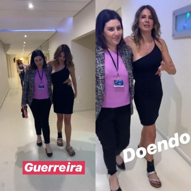 """Luciana Gimenez precisou de ajuda após gravar o """"Superpop"""", da RedeTV! (Foto: Reprodução/Instagram)"""