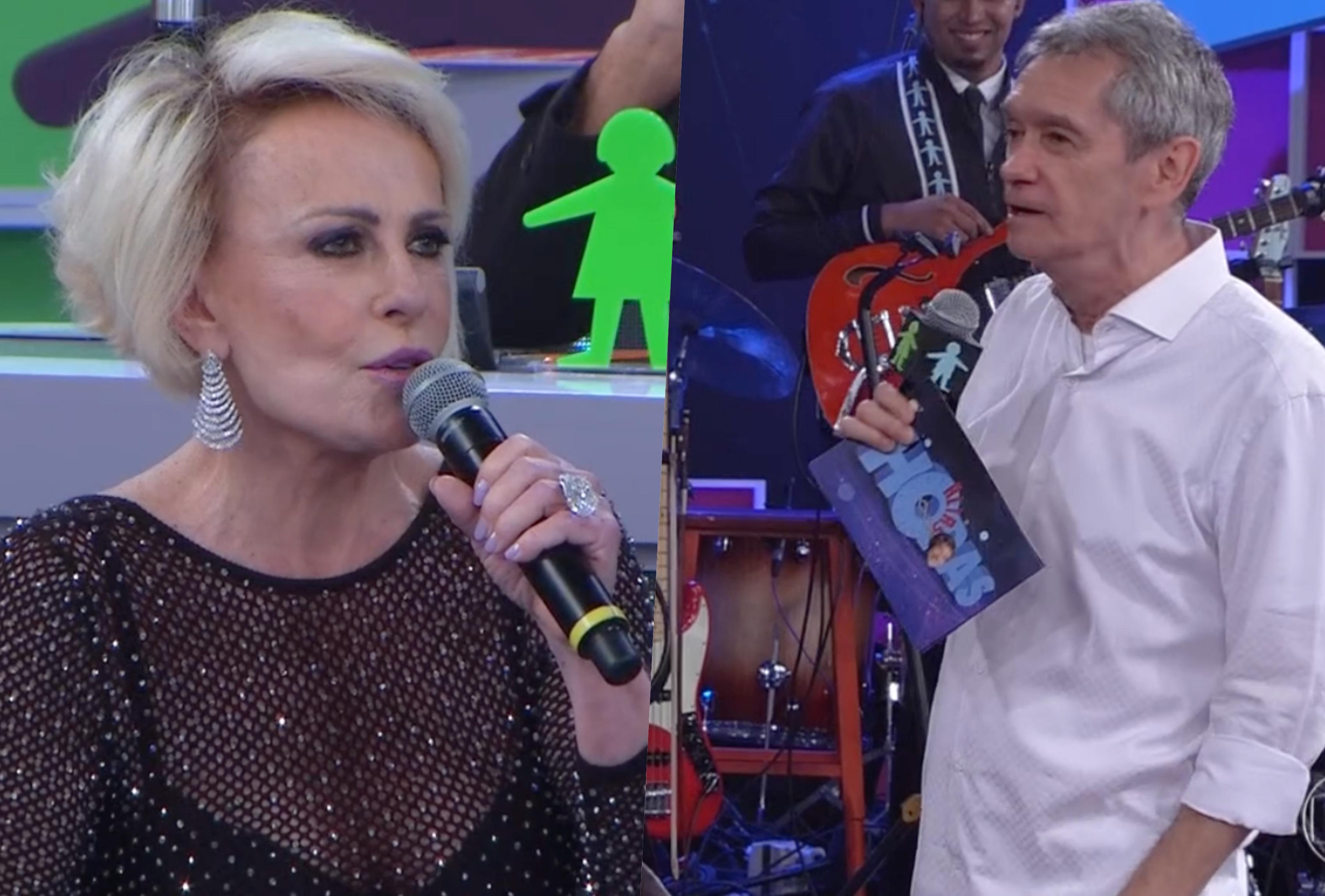 Ana Maria Braga teve segredo exposto ao vivo no Altas Horas da Globo (Foto montagem: TV Foco)