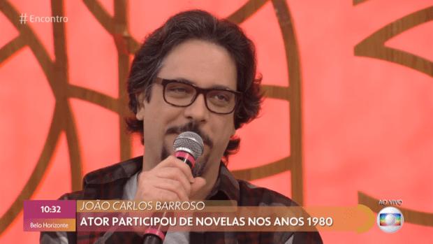 Lúcio Mauro Filho falou sobre a morte de João Carlos Barroso no Encontro (Foto: Reprodução/Globo)