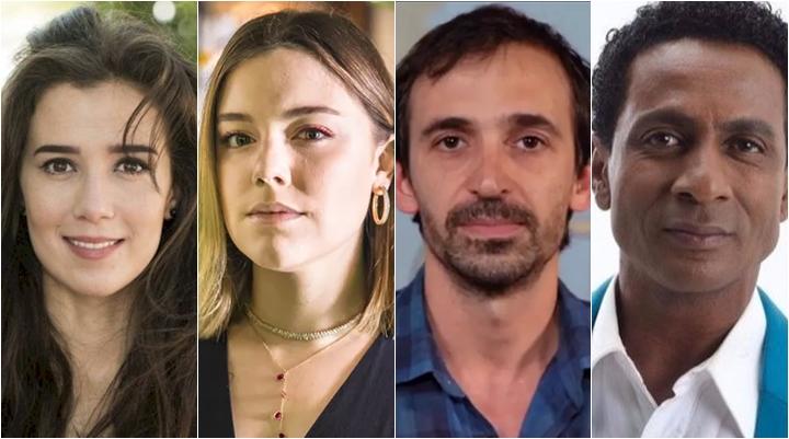 Marjorie Estiano, Alice Wegmann, Júlio Andrade e Luís Miranda deixam o elenco de O Selvagem da Ópera, na Globo. (Foto: Montagem/Divulgação)