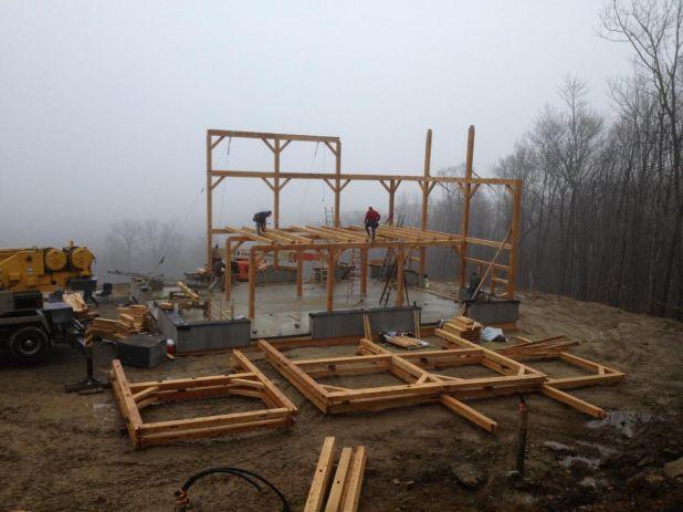 Timber Frame Raising Day 2