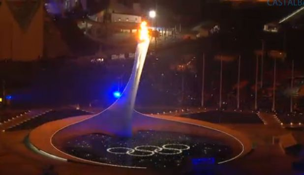 Virile Olympic Torch Sochi, Russia 2014. With Olympic rings. Screencap by @SmartBitches