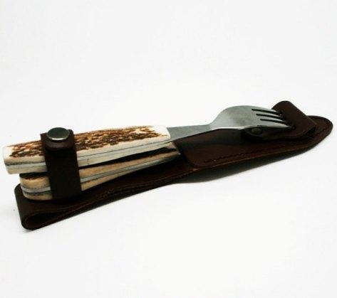 """Набор столовых приборов Экспедиция """"Эстет"""": вилка, нож, цвет: коричневый"""
