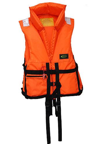 """Жилет спасательный Vostok """"ПР"""" с воротником, цвет: оранжевый, размер 44-48, вес до 60 кг"""