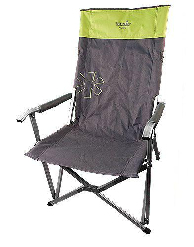 """Кресло складное Norfin """"Vaasa NF Alu"""", цвет: серый, зеленый, 62 см х 56 см х 95 см"""
