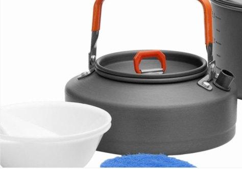 """Набор походной посуды Fire-Maple """"Feast 2"""", цвет: металлик, оранжевый, 7 предметов"""