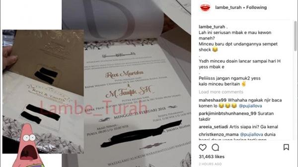 Foto Undangan Pernikahannya diposting Akun Gosip, Terungkap Apa Agama Yang dianut Revi Mariska. Sempat dikabarkan Gila dan Pindah Keyakinan