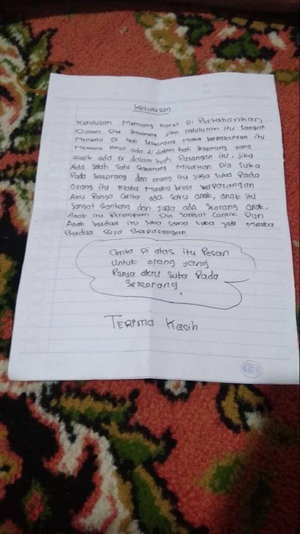 3 Surat Cinta Anak SD Yang Isinya Di Jamin Bisa Buat Jomblo Malu