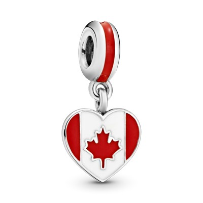 Canada Heart Flag Red Amp White Enamel 791954ENMX
