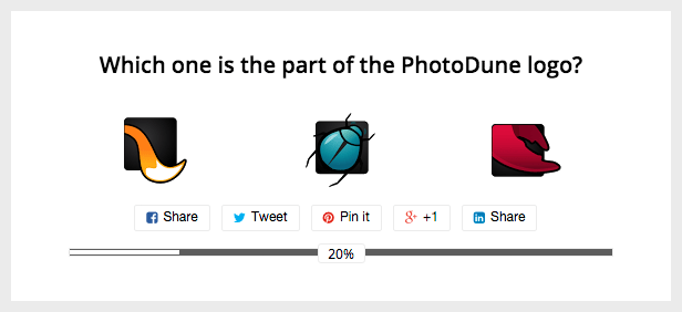Optional Progress Bar, WordPress Survey with Images