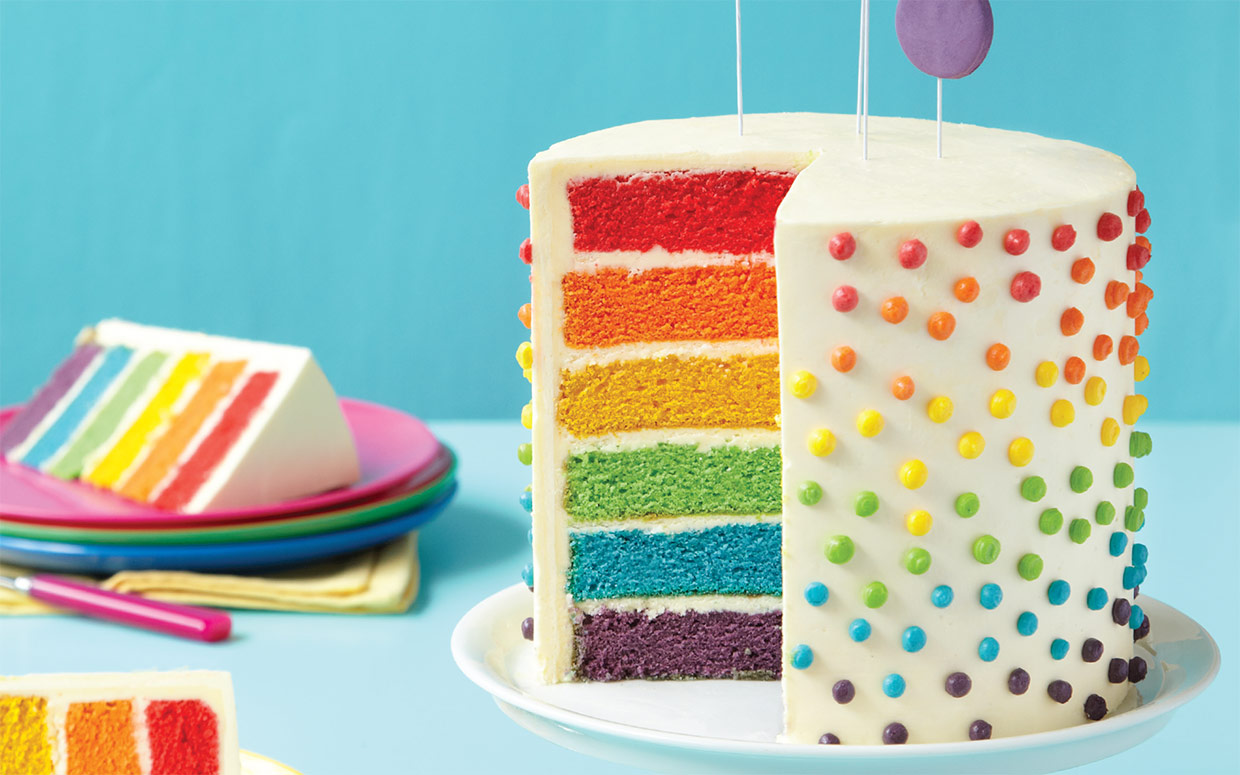 How To Make This Deceptively Easy Rainbow Layer Cake