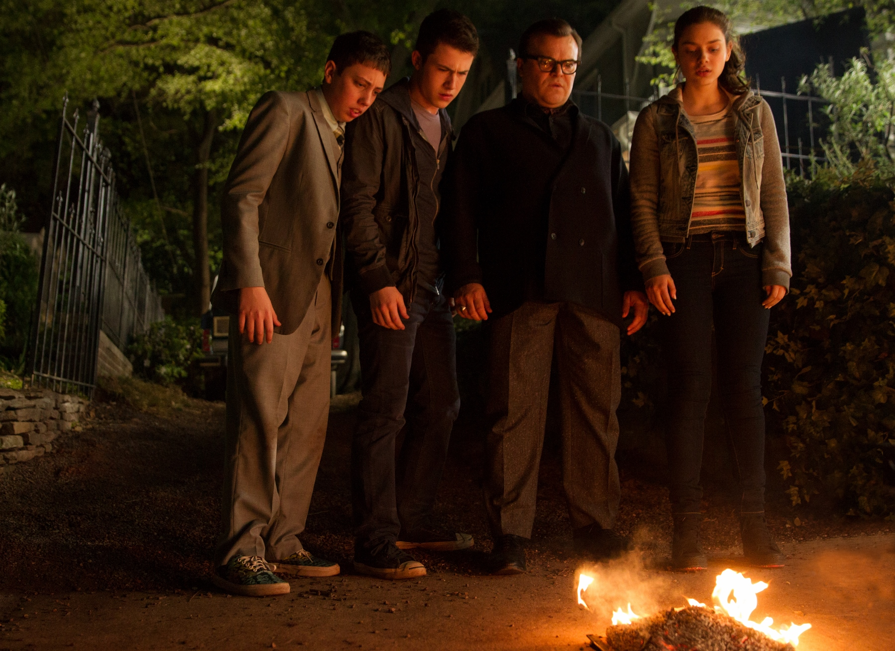 "<p>Dylan Minnette, Jack Black, Odeya Rush and Ryan Lee star in <em>Goosebumps, </em>based on the books by R.L. Stine,<span style=""font-family: proxima-nova-n4, proxima-nova, 'Helvetica Neue', Helvetica, Arial, sans-serif; font-size: 18px; line-height: 28px;""> the story of how the monsters from his books escape into the world, wreak havoc, and the attempts that are made to get them back onto the pages where they belong.</span></p>"