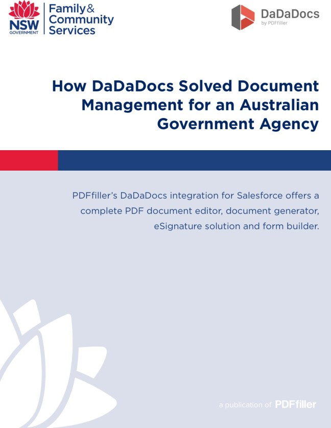 How DaDaDocs Solved Document Management for an Australian Government Agency