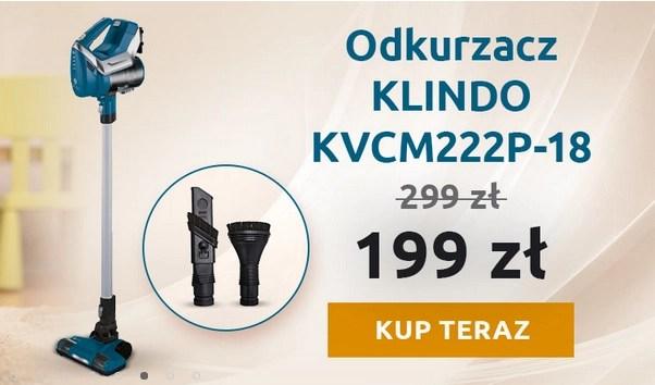odkurzacz pionowy klindo kvcm222p 18