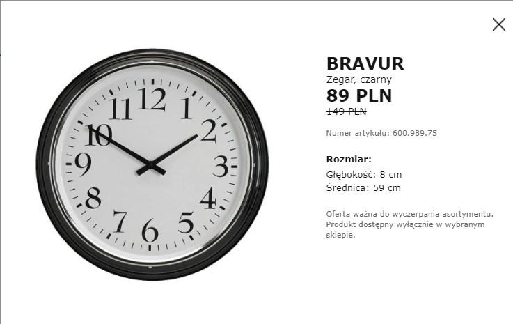 Duży Zegar Bravur Ikea Janki Pepperpl