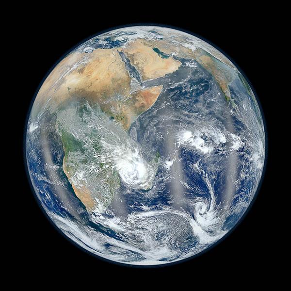 Blue Marble 2012, Eastern Hemisphere