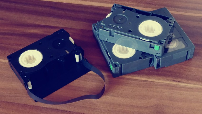 Tape media used before the advent of CDs.