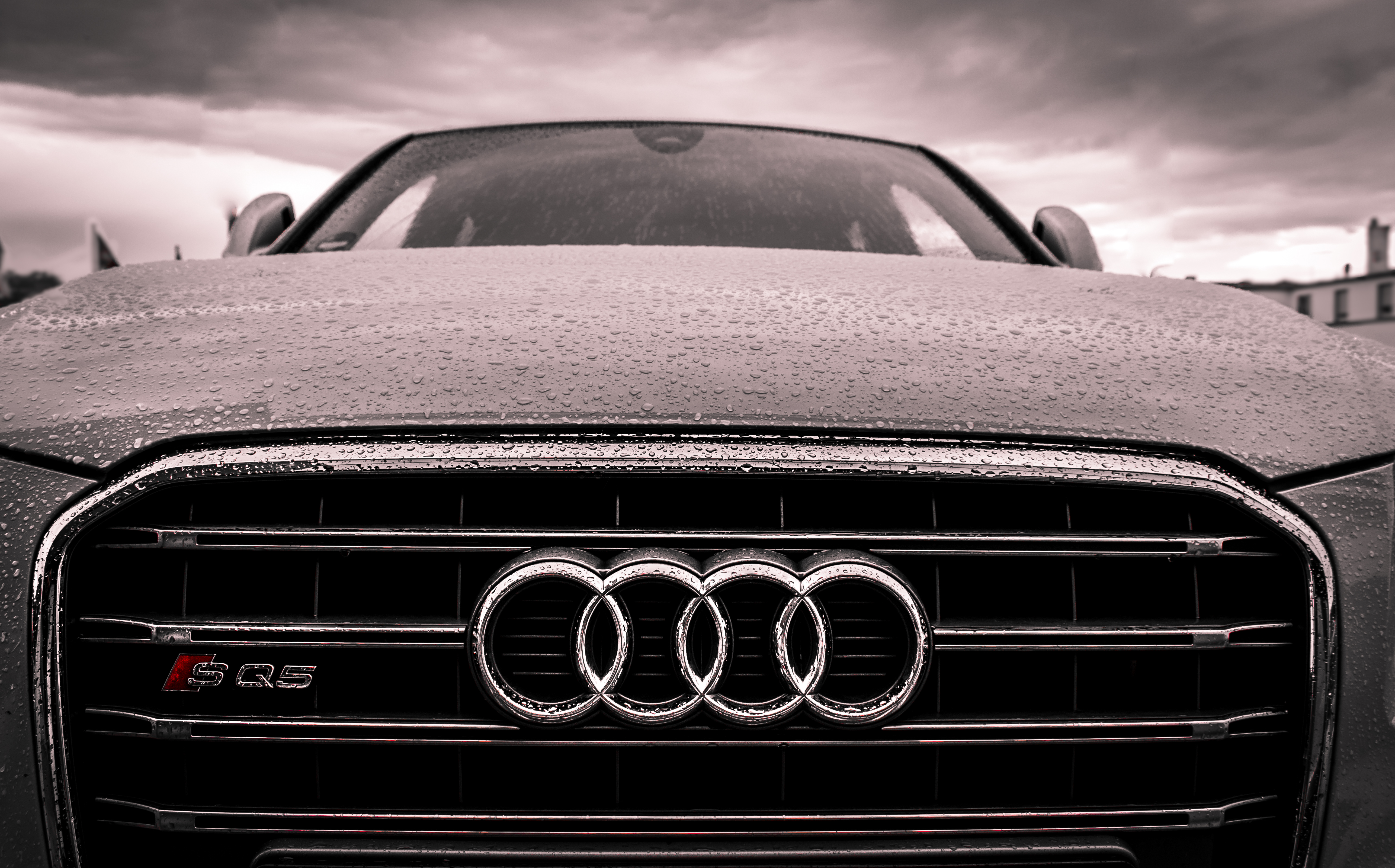 Audi Black And Chrome Grille Free Stock Photo