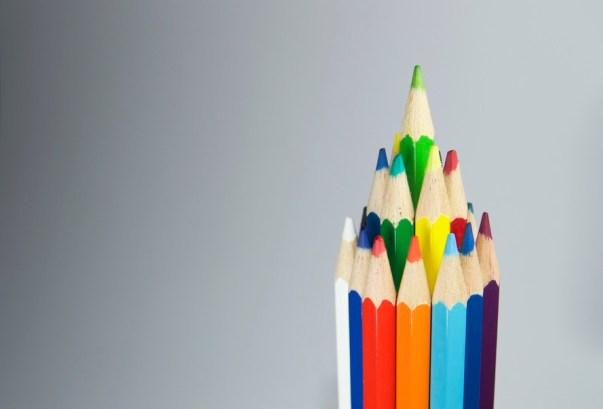 art, pens, colorful