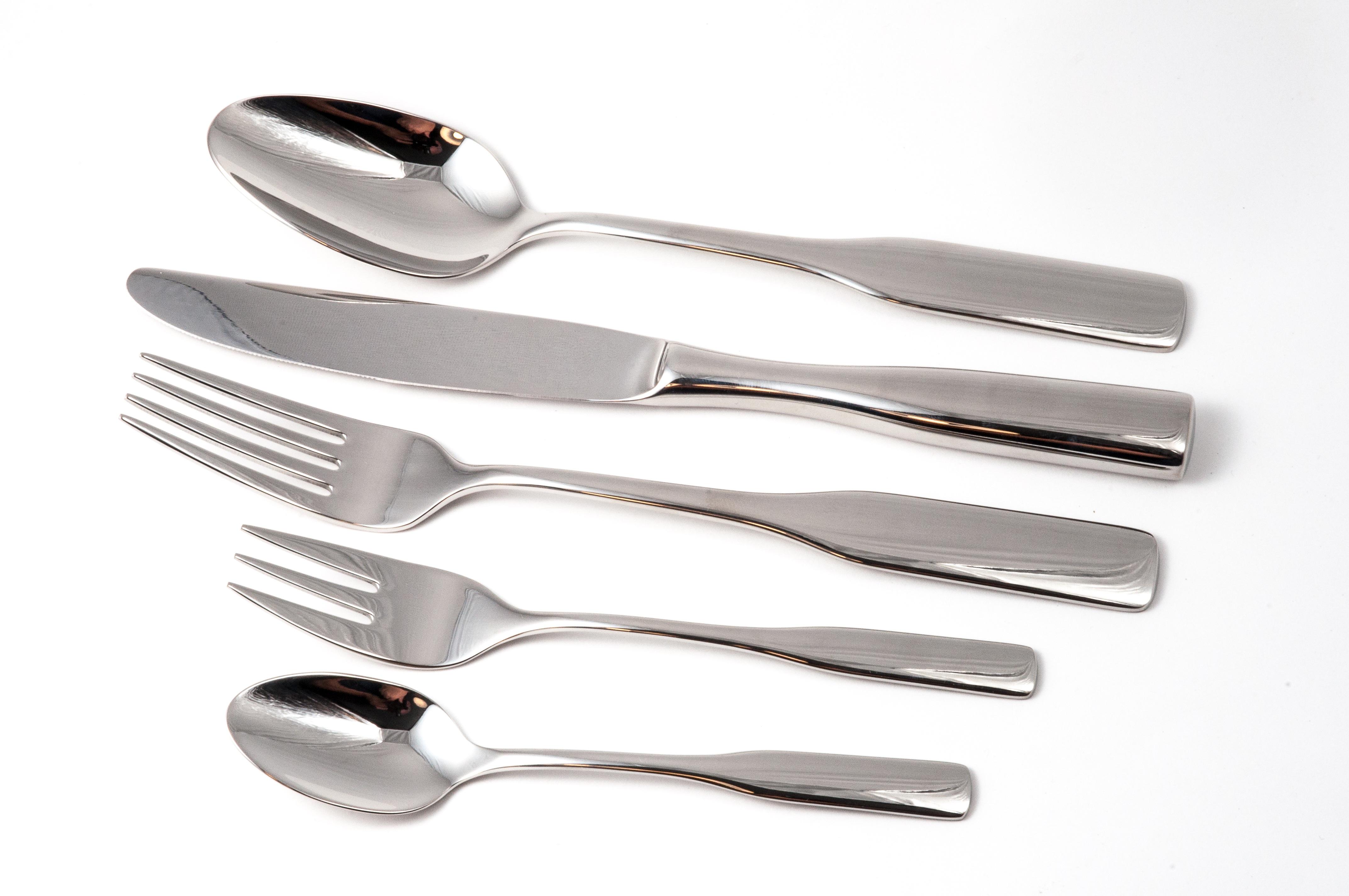 Silver Spoon Near Silver Kitchen Knife Free Stock Photo