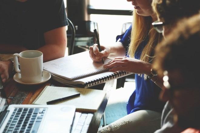 people, coffee, working