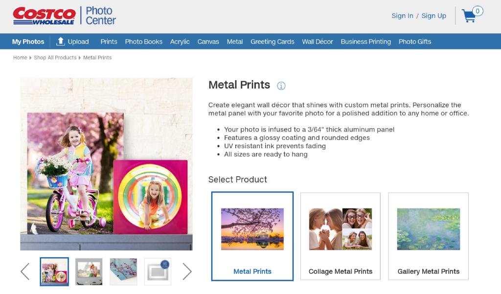 costco metal print review