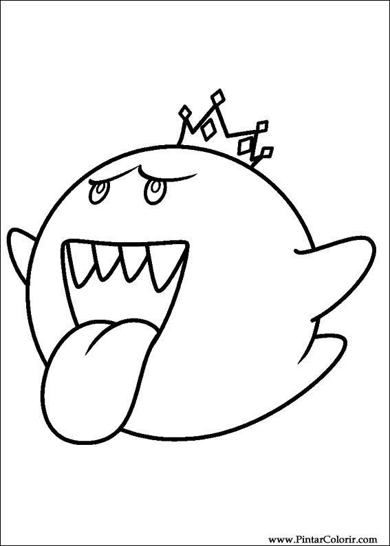 Zeichnungen Zu Malen Und Farbe Super Mario Bros Print