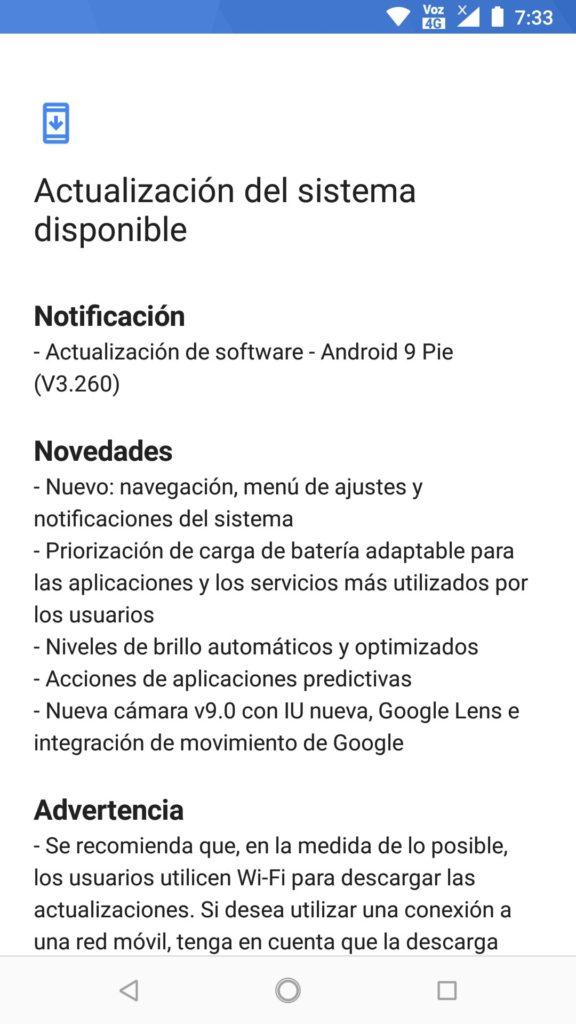 nokia 6.1 android pie captura