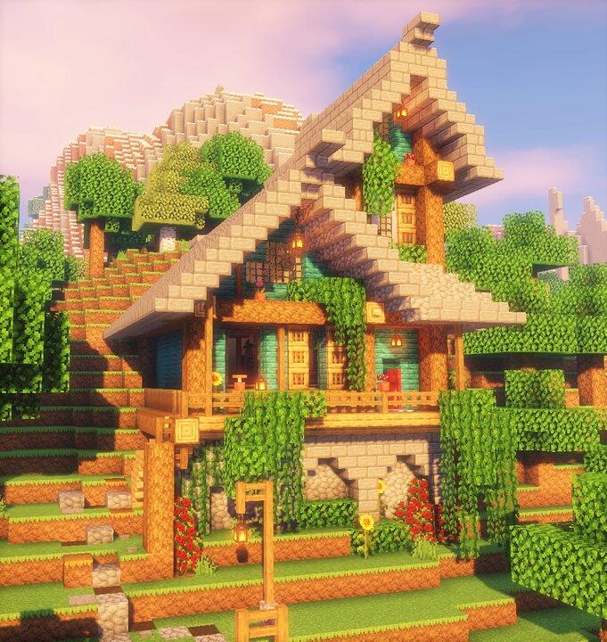 Aesthetic Minecraft Vanilla Cottage Cottagecore Minecraft House