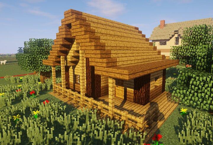 Cabanne Dans Les Bois Minecraft Map