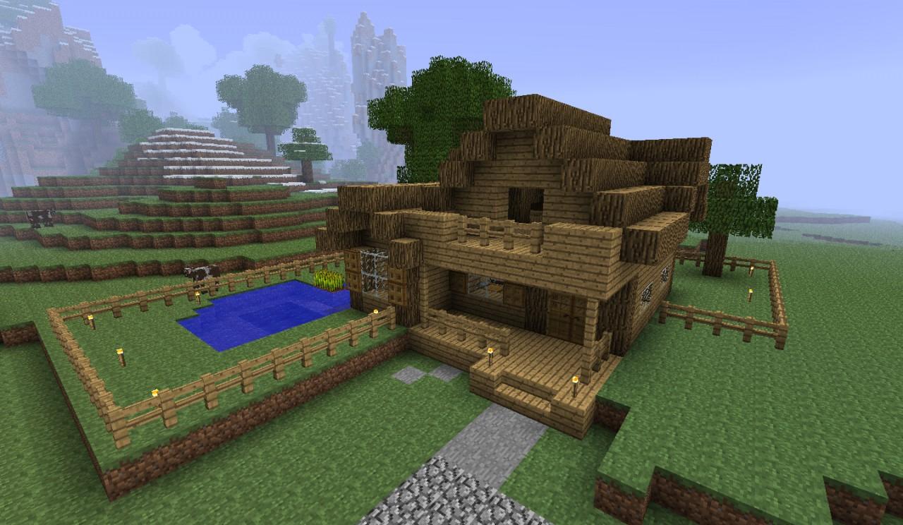 Simple Farmhouse Minecraft Project