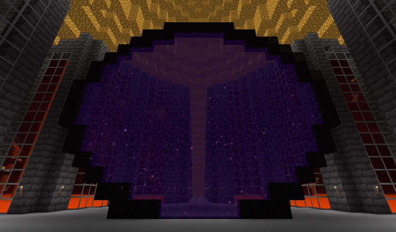 Giant Nether Portal Minecraft Project