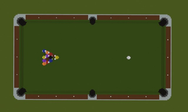 Giant Pool Table Minecraft Map