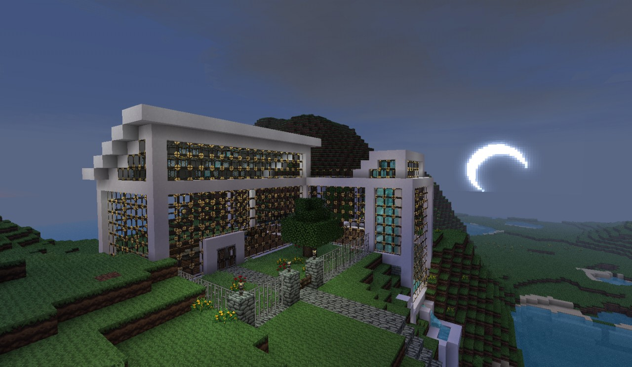 Modern Mountaintop House Minecraft Project