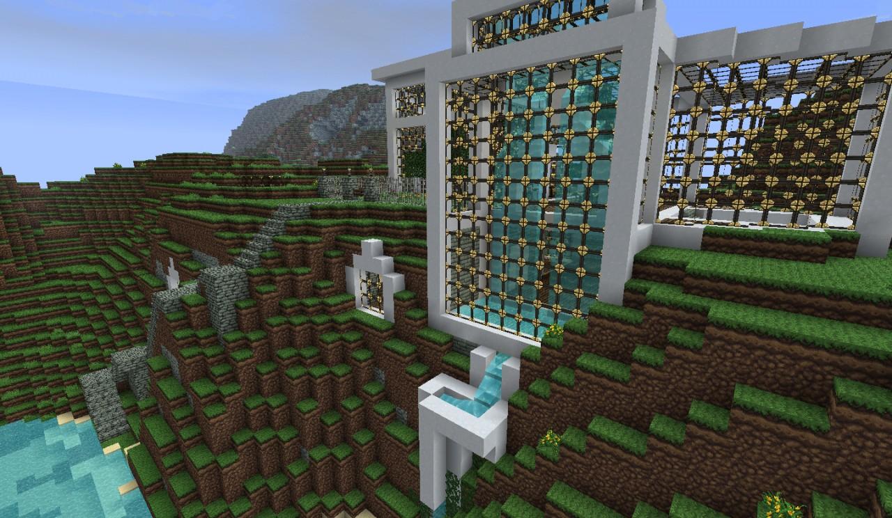 Modern Mountaintop House Minecraft Project