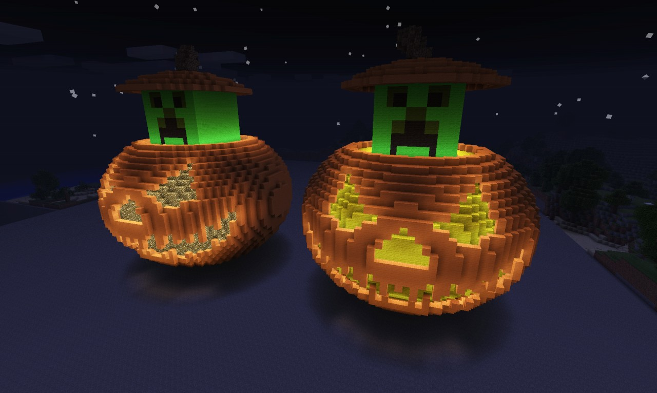 JUMBO Jack O Lantern GlowStone Amp Torch Minecraft Project