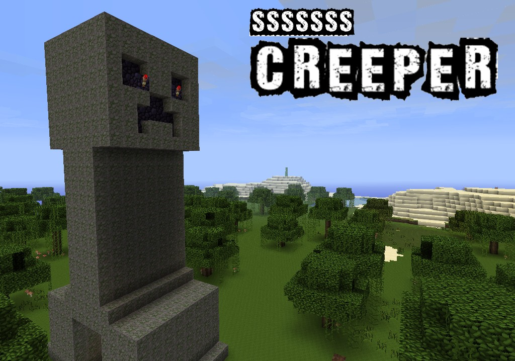 SssSss Creeper With Real Hissing Noise Minecraft Project
