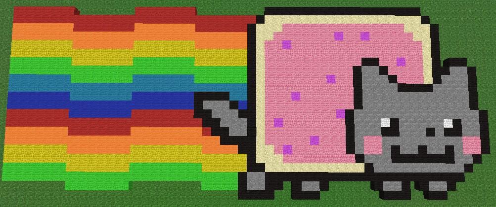 Pixel Grid Art Cat