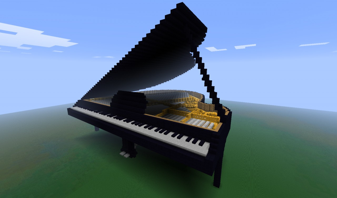 Piano By PiGi95 With Schematic Minecraft Project