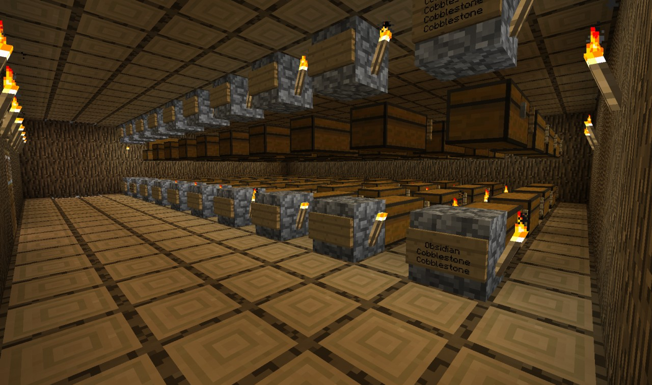 Automated Storage Building Minecraft Project