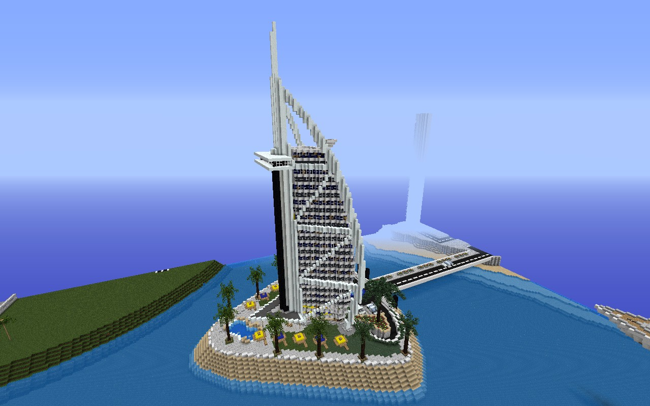 Burj Al Arab World S Only 7 Star Hotel In Jumeirah Beach Dubai Minecraft Map