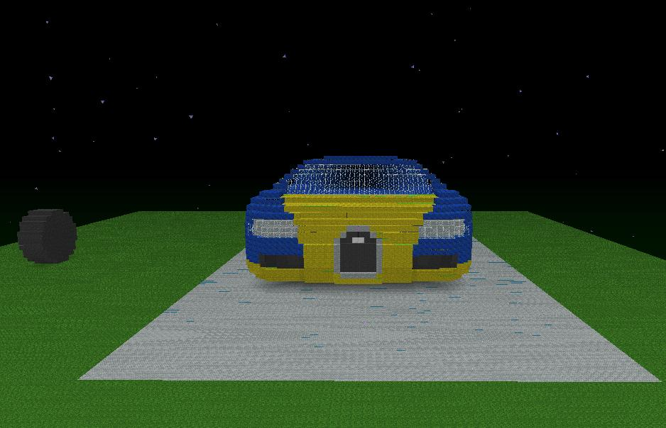 First Images Of Bugatti Veyron Minecraft Project